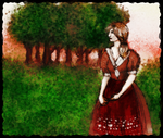 trees and red dress by stormkeeper