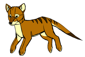 thylacine Plush concept art by VengefulSpirits