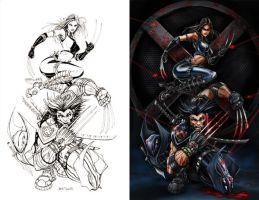 X-Force Wolverine X23 - combo by jamietyndall