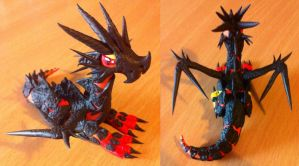 Manly magmadragon by HandmadeDragons