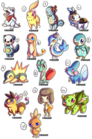 STARTERS :HATCHED EGGS!: by Hetaloid