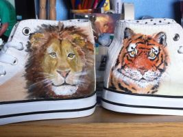Lions and Tigers by loudsilence21