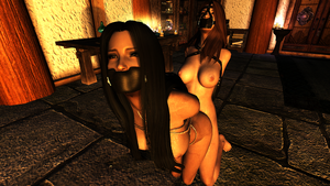 Skyrim - Arwyn and Rowena Slaves by m7seven
