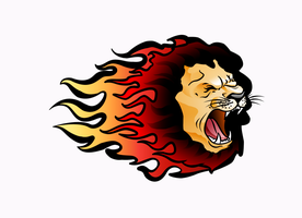 lion logo by RusRed