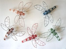 Mini Dragonflies by Escaron