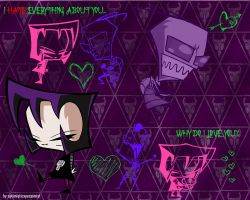 Gaz X Zim Wallpaper :Hate: by optimisticxpessimist