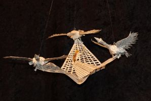 The Wild Swans Book Sculpture by wetcanvas