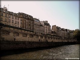 by the Seine by Rivenna