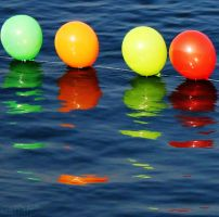 Reflection Of Happy Balloons by Canankk