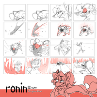 Ronin - storyboard test by Felipoid