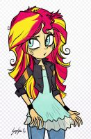 A Sunset Shimmer by Serge-Stiles