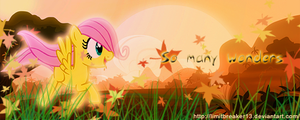 [Request] Filly Fluttershy at Dawn - Signature by LimitBreaker13