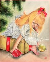 Gifts under the christmas tree by Katerina-Art