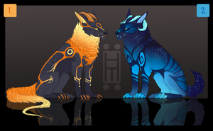 Horned Wolf God ADOPTABLES -CLOSED- by Hanjamuffin