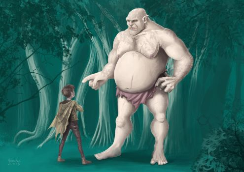 The Child and the Ogre by vigliani