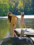 Christie and AnnaN  at the Pond by huitphotography