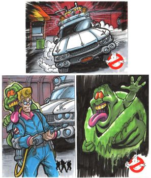 Ghostbusters Sketch Cards by Hachiman1
