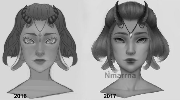 Draw this again 2016 vs 2017 by Nimarrna