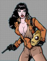 Bettie Page Rocketeer Colored by baggs