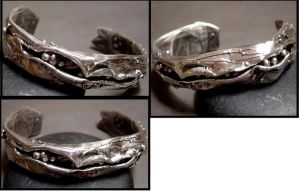 Enclosed Sterling silver brace by MarieCristine