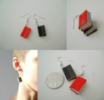 Books earrings by GemDeDude