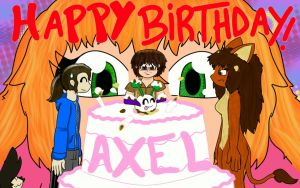 Happy birthday  Axel-DK64 by Fedextreme