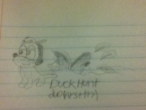 First attempt at drawing the Duck Hunt Duo by PwnageDerp