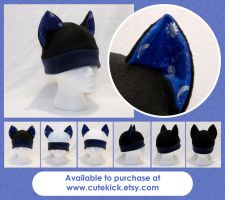Silver Glitter Planets Space Cat Hat by cutekick