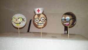 Styrofoam head set: Hoffi, Nurse Vanessa, Starla by ZeroConfidence