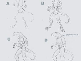 simple anthro anatomy tutorial by drracowong