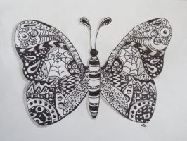Small zentangle butterfly by luzilla