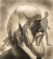 Charles Darwin by TerraTerraCotta