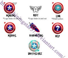 Captain America Cursor Set by ShiningStar37