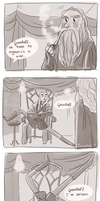 Gandalf listen by onone-chan