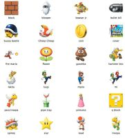 NEW Super Mario Bros. Icons by markdelete