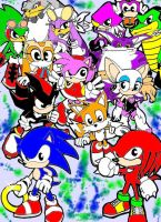 Baby Sonic Characters by HydrocityRemix