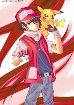 Pokemon Trainer Red by rasanime