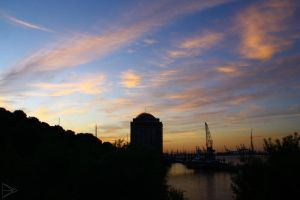 Harbor Sunset by HarlekinKid