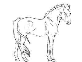 Horse lineart 6 - free to use by KimboKah