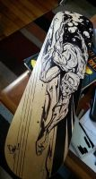 Surfer Skate Deck by abnormalbrain