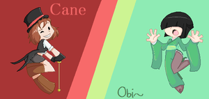 : Cane and Obi : by East-and-West