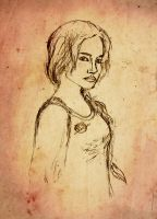 Katniss sketch by Silvanne