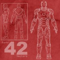 Free Mark-42 Ironman Vectors by MattClarke