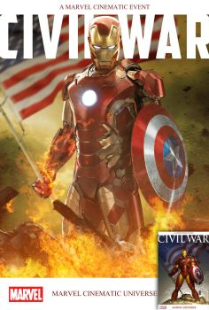 Marvel's Civil War Cover Recreated by TouchboyJ-Hero