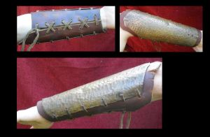 Brass plate bracer by mind-traveler