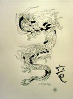 Japanese Dragon by El-Rody-Rules