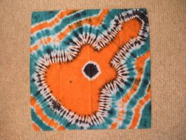 Tie Dye Guitar Orange by Spudnuts