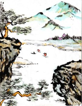 chinese painting 3 by gliridian