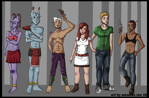Character Lineup by Dominoblox