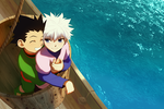 Killua and Gon by skullcaps